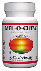 Maxi Health Kosher Mel-O-Chew Melatonin 1 Mg Berry Flavor 100 Chewies