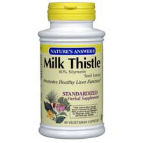 Natures Answer Standardized Milk Thistle Seed Extract Vegetarian Suitable not Certified Kosher 120 Vegetable Capsules