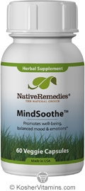 Native Remedies Kosher MindSoothe with St John's Wort & Passion Flower 60 Vegetable Capsules