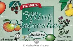 Taanug Mint Refresher Herbal Tea - Kosher for Passover 24 Tea Bags