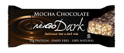 NuGo Nutrition Kosher Dark 10g Protein Bar Mocha Chocolate Parve 1 Bar