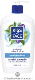 Kiss My Face Moisturizer Olive & Aloe Fragrance Free 16 OZ