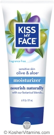 Kiss My Face Moisturizer Olive & Aloe Fragrance Free 6 OZ