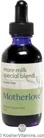 Motherlove Kosher More Milk Special Blend Alcohol Free 4 OZ