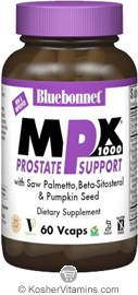 Bluebonnet Kosher MPX 1000 Prostate Support 60 Vegetable Capsules