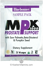 Bluebonnet Kosher MPX 1000 Prostate Support - Free with a $49 Purchase 1 Pack