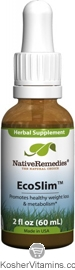 Native Remedies Kosher EcoSlim Promotes Healthy Weight Loss & Metabolism 2 OZ