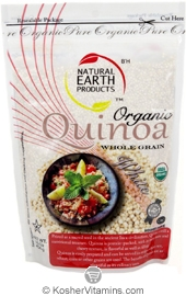 Natural Earth Products Kosher Organic Whole Grain White Quinoa Gluten Free 10 OZ
