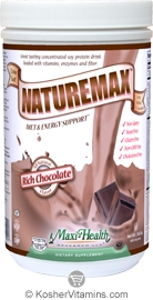 Maxi Health Kosher Naturemax Protein Powder Rich Chocolate 1 LB