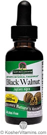 Natures Answer Kosher Black Walnut 2,000 Mg Alcohol Free 1 OZ