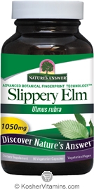 Natures Answer Kosher Slippery Elm 1,050 Mg 90 Vegetarian Capsules