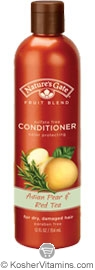 Natures Gate Fruit Blend Asian Pear & Red Tea Conditioner for Dry, Damaged Hair 12 OZ