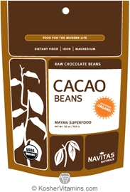 Navitas Naturals Kosher Cacao (Chocolate) Beans Raw Organic 8 OZ