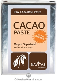 Navitas Naturals Kosher Cacao (Chocolate) Paste Raw Organic 16 OZ