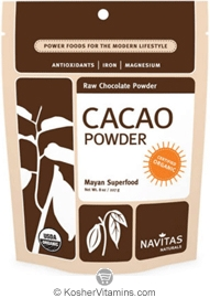 Navitas Naturals Kosher Cacao (Chocolate) Powder Raw Organic 16 OZ