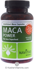 Navitas Naturals Maca Gelatinized 500 Mg Organic Vegetarian Suitable Not Certified Kosher 100 Vegetarian Capsules