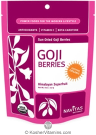 Navitas Naturals Kosher Goji Berries Organic 16 OZ