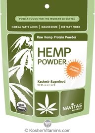 Navitas Naturals Kosher Hemp Powder Organic 12 OZ