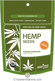 Navitas Naturals Kosher Hemp Seeds Organic 8 OZ
