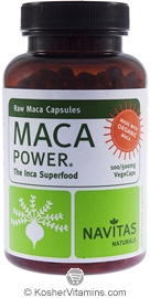 Navitas Naturals Maca 500 Mg Raw Organic Vegetarian Suitable Not Certified Kosher 100 Vegetarian Capsules