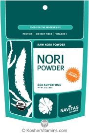 Navitas Naturals Kosher Nori Powder Raw Organic 3 OZ