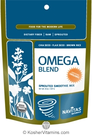 Navitas Naturals Kosher Omega Blend Organic Sprouted Smoothie Mix 8 OZ