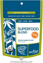 Navitas Naturals Kosher Superfood Blend Organic Protein Smoothie Mix 8 OZ