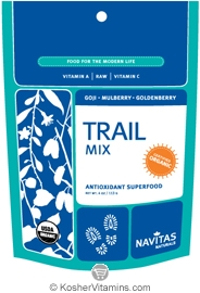 Navitas Naturals Kosher Trail Mix Goji, Mulberry, Goldenberry Organic 4 OZ