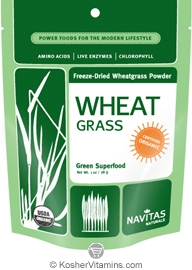 Navitas Naturals Kosher Wheat Grass Powder Organic 1 OZ