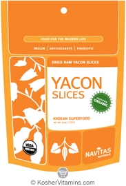 Navitas Naturals Kosher Yacon Slices Raw Organic 2 OZ