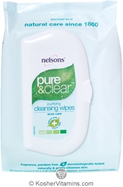 Nelsons Pure & Clear Purifying Cleansing Wipes 32 Wipes