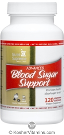 Nutri-Supreme Research Kosher Blood Sugar Support 1 120 Vegetarian Capsules