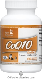 Nutri-Supreme Research Kosher Coenzyme Q10 300 Mg  60 Vegetarian  Capsules
