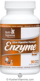 Nutri-Supreme Research Kosher Enzyme Plus 90 Vegetarian Capsules