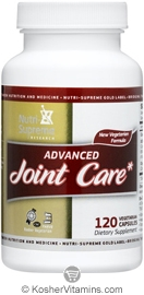 Nutri-Supreme Research Kosher Advanced Joint Care with Vegetarian Glucosamine 120 Vegetarian Capsules
