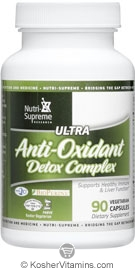 Nutri-Supreme Research Kosher Ultra Anti-Oxidant Detox Complex 90 Vegetarian Capsules