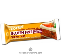NuGo Nutrition Kosher Free Bar Carrot Cake Gluten Free Parve 1 Bar