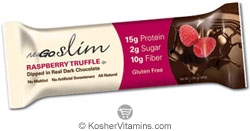 NuGo Nutrition Kosher Slim Protein Bar Raspberry Truffle Dairy 12 Bars