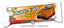 NuGo Nutrition Kosher Smarte Carb Peanut Butter Crunch Bar Sugar Free Dairy 12 Bars
