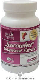 Nutri-Supreme Research Kosher Leucoselect Grapeseed Extract 60 Vegetarian Capsules
