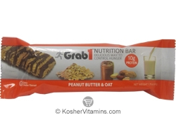 Grab1 Kosher Nutrition Bar 10g Protein Peanut Butter & Oat Dairy Cholov Yisroel 1 Bar