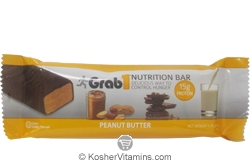 Grab1 Kosher Nutrition Bar 15g Protein Peanut Butter Dairy Cholov Yisroel 1 Bar