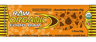Organic Food Bar Kosher RAW Chocolatey Chocolate Chip Dairy 12 Bars