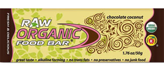 Organic Food Bar Kosher RAW Chocolate Coconut Dairy 12 Bars