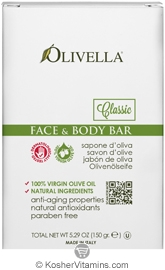 Olivella Kosher Face & Body Bar Soap Classic 5.29 OZ