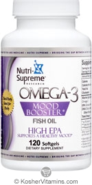 Nutri supreme research kosher omega 3 mood booster fish for Kosher fish oil