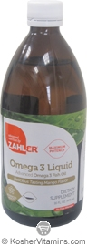 Zahlers Kosher Advanced Omega-3 Fish Oil Liquid Mango Flavor 16 OZ