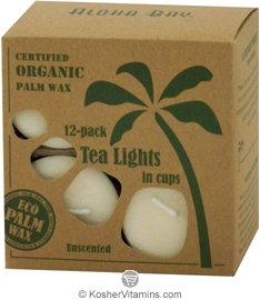 Aloha Bay Palm Wax Tea Lights Cream 12 Tea Lights
