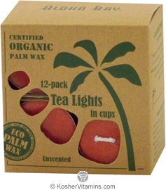 Aloha Bay Palm Wax Tea Lights Red 12 Tea Lights