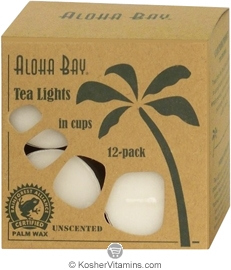 Aloha Bay Palm Wax Tea Lights White 12 Tea Lights